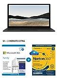 Microsoft Surface Laptop 4, 15 Zoll Laptop (Ryzen 7se, 16GB RAM, 512GB SSD, Win 10 Home) Matt Schwarz + 365 Family 12+3 Monate   6 Nutzer   Mehrere PCs/Macs, Tablets & Mobile Geräte