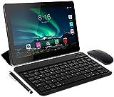 Toscido Tablet 10 Zoll (25.4 cm) 8 Core – Android 10.0 zertifiziert von Google GMS 4G LTE Tablets, 4 GB RAM und 64 GB, Dual-SIM, GPS, Maus, Tablet-Hülle und mehr im Lieferumfang enthalten (grau)