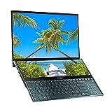 Asus ZenBook Pro Duo UX581GV 15,6 Zoll 4K Dual-Touchscreen Alexa fähigen Laptop () (Intel i7-9750H, 512 GB PCI-E SSD, 16 GB RA